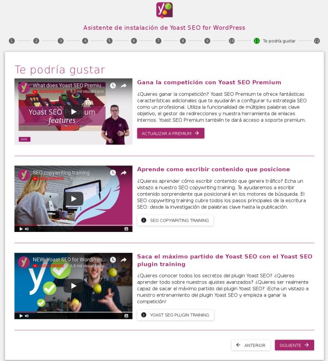 pantalla 11 del asistente de configuracion del plugin Yoast SEO