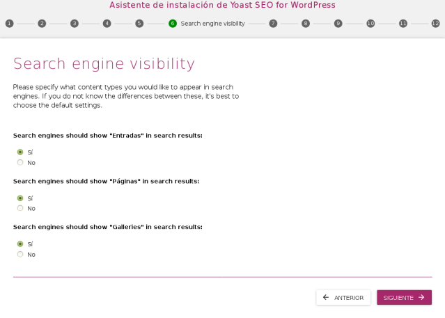 asistente de configuracion o wirzard del yoast seo pantalla 6